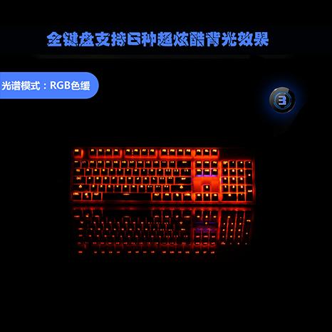 25KEY 跑马发光薄膜游戏键盘